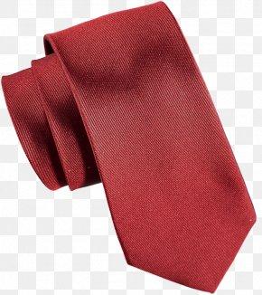 Red Tie - Necktie Red Headscarf Floral Design PNG