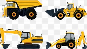 Vector Excavator - Heavy Equipment Architectural Engineering Car Caterpillar Inc. PNG