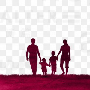 Silhouette Family - Family Silhouette Divorce PNG