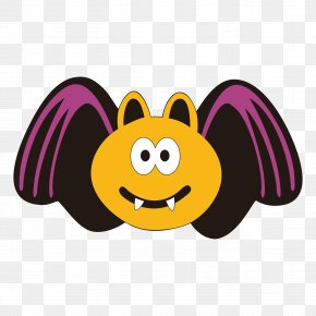 Halloween Cartoon Bat Decoration - Halloween Bat Clip Art PNG