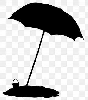 Blackandwhite Black M - Umbrella Cartoon PNG