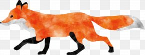 Run The Fox Vector - Watercolor Painting Fox Animal PNG
