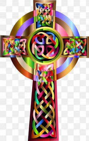 Vibrant Colors Clipart - Celtic Cross Clip Art PNG