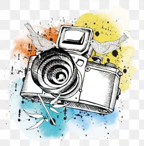 Cartoon Camera - Camera Photography Poster Illustration PNG