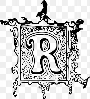 'r' Vector - Black And White Visual Arts Clip Art PNG