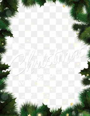 Christmas Green Pine Needles Background - Christmas Tree New Year Poster PNG
