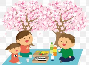Cherry Blossom - Hanami Cherry Blossom Cartoon Clip Art PNG