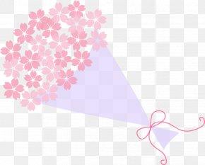 Painted Pink Bouquet Bouquet - Pink Flower Bouquet Nosegay PNG