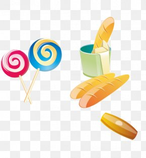 Colorful Lollipop Material - Food Bread Clip Art PNG