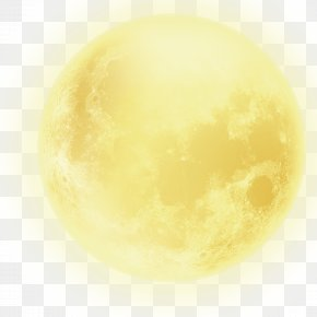 Mid-Autumn Moon - Yellow Sphere Computer Wallpaper PNG