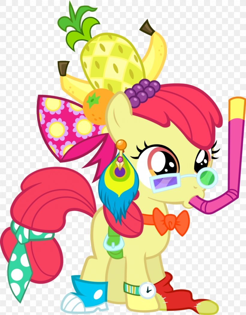 Apple Bloom Rarity Rainbow Dash My Little Pony, PNG, 900x1152px, Watercolor, Cartoon, Flower, Frame, Heart Download Free