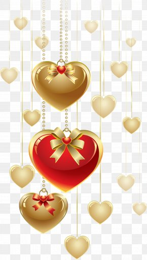 Gold Heart - Heart Valentine's Day Clip Art PNG