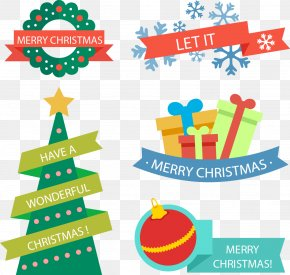 Vector Hand-drawn Cartoon Christmas Pattern - Christmas Tree Gift Clip Art PNG