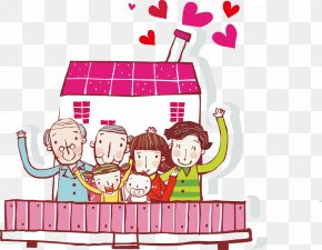 Family - Family Happiness Cartoon Illustration PNG
