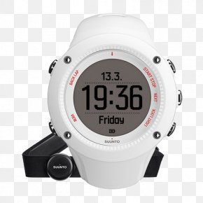 Suunto Heart Rate Watches White - Running Heart Rate Monitor GPS Watch PNG