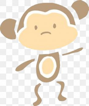 Dancing Monkey - Monkey Cartoon Illustration PNG