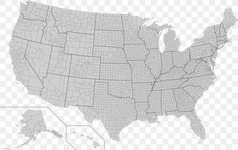Contiguous United States FIPS County Code Map U.S. State ...