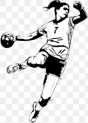 Vector Painted Handball Player - Handball Stock Photography Player Illustration PNG