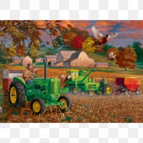 Tractor - John Deere Farmall Jigsaw Puzzles Tractor PNG