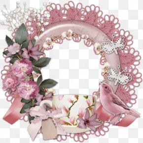 Floral Pink Border - Pink Download Picture Frame PNG