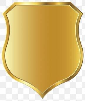 Golden Shield Border - Shield Clip Art PNG