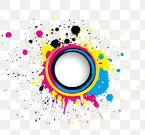 Colorful Ink Element - CMYK Color Model Euclidean Vector Stock Photography Splash PNG