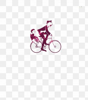 Father And Son Cycling Pattern - Fathers Day Happiness Gratitude Gift PNG