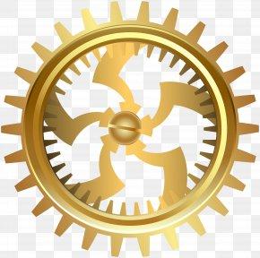 Gold Gear Transparent Clip Art - Gear Clip Art PNG
