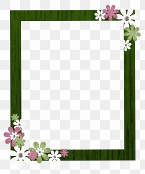 Green Border Frame Clipart - Picture Frame Download Clip Art PNG