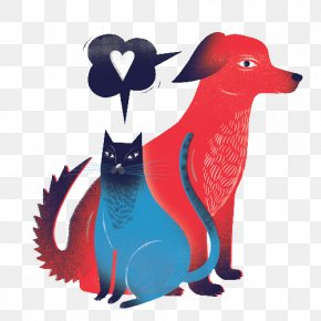 Cat And Dog - Cat Dog Kitten Illustration PNG