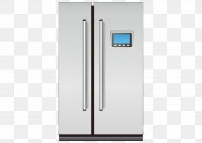 Refrigerator - Refrigerator Door Home Appliance Furniture PNG