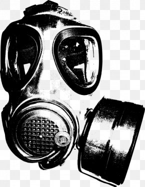 Gas Mask Drawing Stencil - Gas Mask Clip Art Personal Protective Equipment PNG