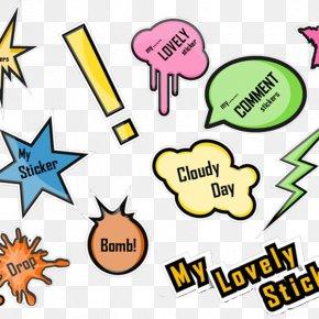 Color Explosion Label - Speech Balloon Clip Art PNG