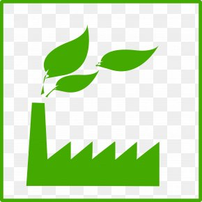 Eco Green Factory Icon - Factory Symbol Clip Art PNG