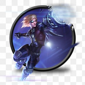 Ezreal Pulsefire Without LoL Logo - Purple Electric Blue Fictional Character PNG