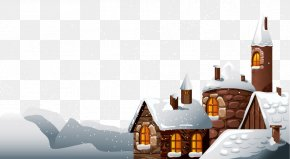 Snow House - Santa Claus Christmas Snow Clip Art PNG