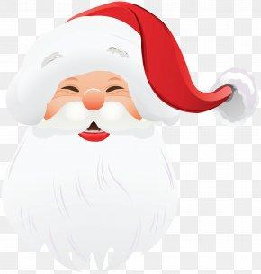 Transparent Santa Claus Face Clipart - Santa Claus Christmas Face Clip Art PNG