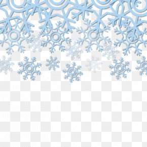 Snowflake Blue Decorative Background Vector Material - Blue Snowflake PNG