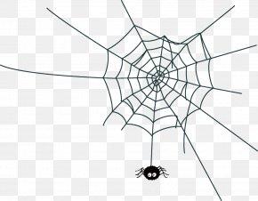 Net Line Art - Spider Web Halloween PNG