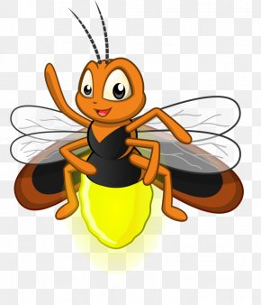 Cute Little Bee - Cartoon Firefly Royalty-free Illustration PNG