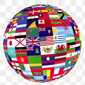 World Globe - Globe Flags Of The World Clip Art PNG