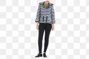 Blue Stripes Ladies Fashion Casual Jacket - Jeans Tartan Shoulder Leggings Fashion PNG