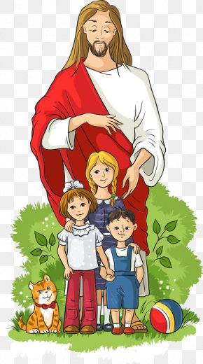 Vector Children And Jesus - Child Royalty-free Illustration PNG