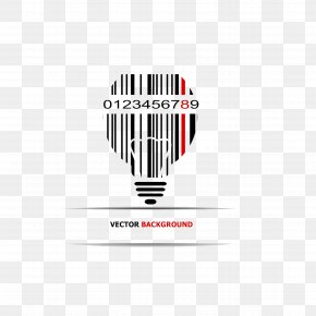 Barcode Bulb - Illustration PNG