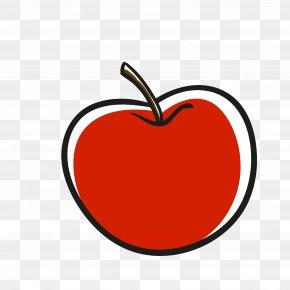 Vector Red Fruit Big Apple - Apple Love Heart Clip Art PNG