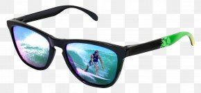 Sunglasses With Surfer Reflection - Sunglasses Eyewear Eyeglass Prescription Lens PNG