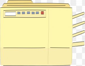 Yellow Printer - Yellow Angle Filing Cabinet PNG