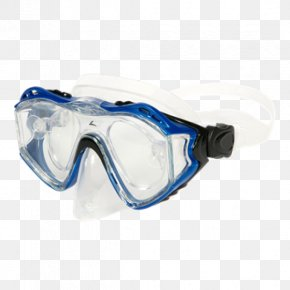 Blue Color Lense Flare With Colorfull Lines - Diving & Snorkeling Masks Goggles Underwater Diving PNG