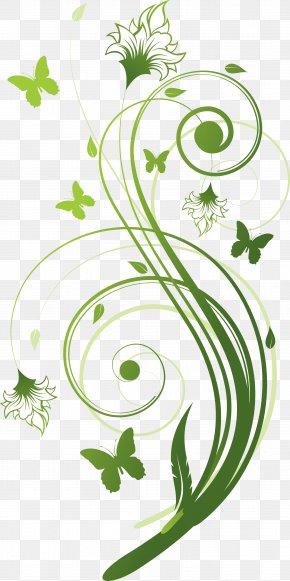 Green Flower Vine - Flower Stock Photography Floral Design Green PNG