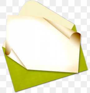 Green Flower - Paper Green Yellow Envelope Rectangle PNG